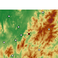 Nearby Forecast Locations - Zixing - Mapa