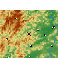 Nearby Forecast Locations - Chongyi - Mapa
