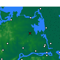 Nearby Forecast Locations - Tianchang - Mapa