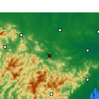 Nearby Forecast Locations - Chuo-šan - Mapa