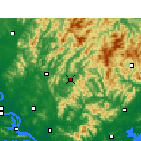 Nearby Forecast Locations - Yingshan/HUB - Mapa
