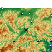 Nearby Forecast Locations - Li-šuej - Mapa