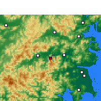 Nearby Forecast Locations - Kuocangshan - Mapa