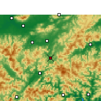 Nearby Forecast Locations - Jinyun - Mapa