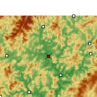 Nearby Forecast Locations - Jianyang - Mapa