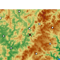 Nearby Forecast Locations - Jian'ou - Mapa