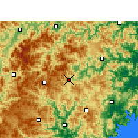 Nearby Forecast Locations - Taishun - Mapa
