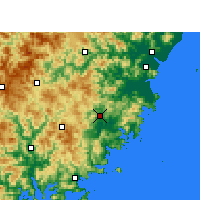 Nearby Forecast Locations - Fuding - Mapa
