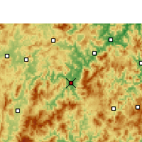Nearby Forecast Locations - Yong'an - Mapa
