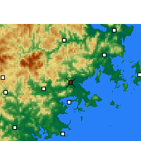 Nearby Forecast Locations - Pchu-tchien - Mapa