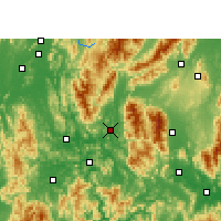 Nearby Forecast Locations - Gongcheng - Mapa