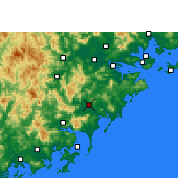 Nearby Forecast Locations - Zhangpu - Mapa