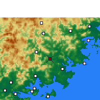 Nearby Forecast Locations - Nan'an - Mapa