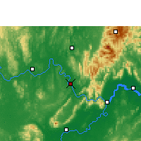 Nearby Forecast Locations - Wuxuan - Mapa