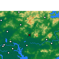 Nearby Forecast Locations - Zengcheng - Mapa