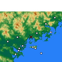 Nearby Forecast Locations - Raoping - Mapa