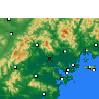 Nearby Forecast Locations - Ťie-jang - Mapa
