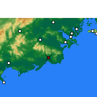 Nearby Forecast Locations - Huilai - Mapa