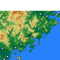 Nearby Forecast Locations - Yunxiao - Mapa