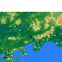 Nearby Forecast Locations - Huidong/GUD - Mapa