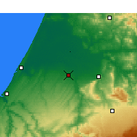 Nearby Forecast Locations - Sidi Slimane - Mapa