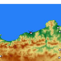 Nearby Forecast Locations - Jijel-port - Mapa