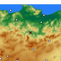 Nearby Forecast Locations - Guelma - Mapa