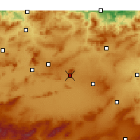 Nearby Forecast Locations - Oum El Bouaghi - Mapa
