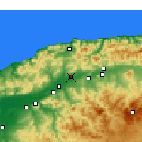 Nearby Forecast Locations - Chlef - Mapa