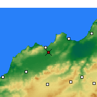Nearby Forecast Locations - Es Sénia - Mapa