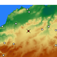 Nearby Forecast Locations - Sidi Bel Abbès - Mapa