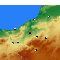 Nearby Forecast Locations - Tlemcen - Mapa