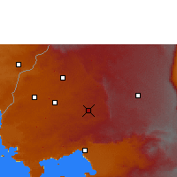 Nearby Forecast Locations - Kakamega - Mapa