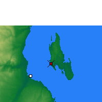 Nearby Forecast Locations - Zanzibar - Mapa