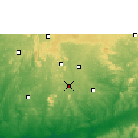 Nearby Forecast Locations - Akure - Mapa