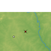 Nearby Forecast Locations - Ouagadougou - Mapa