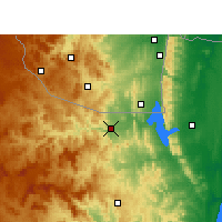 Nearby Forecast Locations - Pongola - Mapa