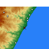 Nearby Forecast Locations - Durban - Mapa
