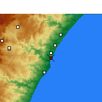 Nearby Forecast Locations - Virginia (Letiště) - Mapa