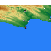 Nearby Forecast Locations - St Francis Bay - Mapa