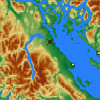 Nearby Forecast Locations - Campbell River - Mapa