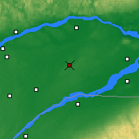Nearby Forecast Locations - Beaver Mines - Mapa