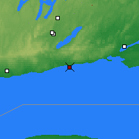 Nearby Forecast Locations - Cobourg - Mapa