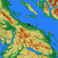 Nearby Forecast Locations - Qualicum (Letiště) - Mapa