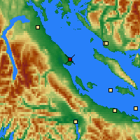 Nearby Forecast Locations - Comox - Mapa