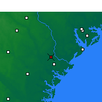 Nearby Forecast Locations - Savannah - Mapa