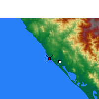 Nearby Forecast Locations - Mazatlán - Mapa