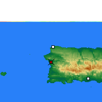 Nearby Forecast Locations - Mayagüez - Mapa