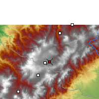 Nearby Forecast Locations - Ipiales - Mapa