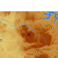 Nearby Forecast Locations - Poços de Caldas - Mapa